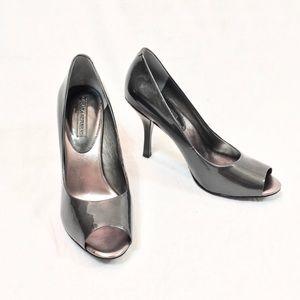 Banana Republic Gray Patent Leather Heels